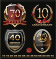 Anniversary golden labels vector image