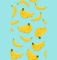 banana seamless pattern bunch ripe bananas on vector image vector image