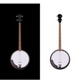 banjo isolated folk instrument vector image vector image