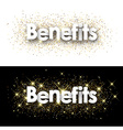 Benefits paper banners vector image vector image