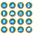 charity icons blue circle set vector image vector image