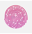 Circle touch fingerprint id app vector image vector image