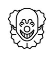 clown line vector image