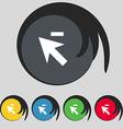Cursor arrow minus icon sign Symbol on five vector image vector image