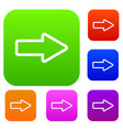 cursor to right set collection vector image vector image