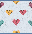 cute hearts background seamless pattern with vector image vector image
