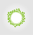 Design element with spring leaves vector image