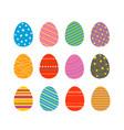 easter eggs silhouettes easter eggs for easter vector image