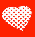 elegant romantic amorous red concept vector image