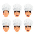 face expressions of young professional chef man vector image