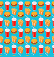 fast-food seamless isometric pattern cola vector image vector image
