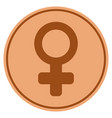 female symbol bronze coin vector image vector image