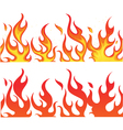 Fiery Flames Banner vector image
