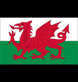 flag of wales vector image vector image