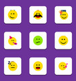 flat icon gesture set of cheerful joy frown and vector image vector image