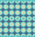 flower stripe blue and cream seamless vector image vector image