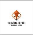 fox mountain logo vector image