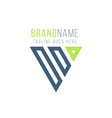 geometrical triangle or arrow in three parts logo vector image vector image