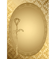 gold romantic card with golden ornament vector image vector image