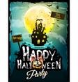 Halloween night background EPS 10 vector image vector image
