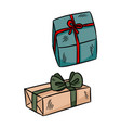 hand drawn gift boxes sticker doodles vector image
