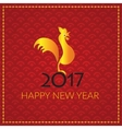 Happy Chinese new year 2017 card vector image