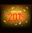 happy new 2019 year greeting card color balloons vector image vector image