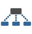 Hierarchy Scheme Toolbar Icon vector image vector image