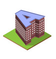 isometric building letter a form vector image vector image