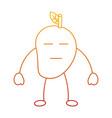 kawaii mango fruit cartoon character facial vector image vector image