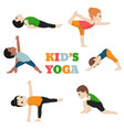 kids doing yoga kids doing yoga vector image vector image