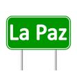 La Paz road sign
