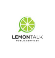lemon combined with bubble talk mark vector image