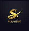 letter s premium logo design concept vector image vector image