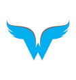 letter w wings logo icon vector image vector image