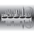 london city gradient 2 vector image vector image