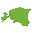 map estonian vector image