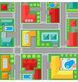 Map of Town Top View vector image vector image