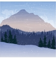 mountain landscape with fir trees and snow vector image vector image