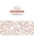 page design for bakery vector image vector image