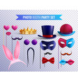 photo booth masks set vector image vector image