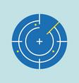 radar navigation icon flat design vector image vector image