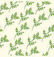 seamless floral pattern green vector image