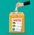 selling vote for election vector image vector image