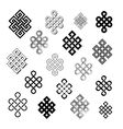 Set collection of the endless knots vector image vector image