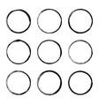 set hand drawn circle frame vector image vector image