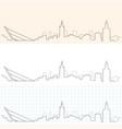 seville hand drawn skyline vector image vector image