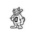 silhouette baseball wolf clipart vector image