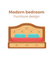 single colorful bed with pillows and blanket vector image vector image