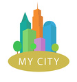 skyscrapers and urban house logo concept vector image vector image